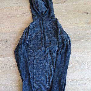 Lululemon Swiftly Wool Hoodie, Blue, Size 6